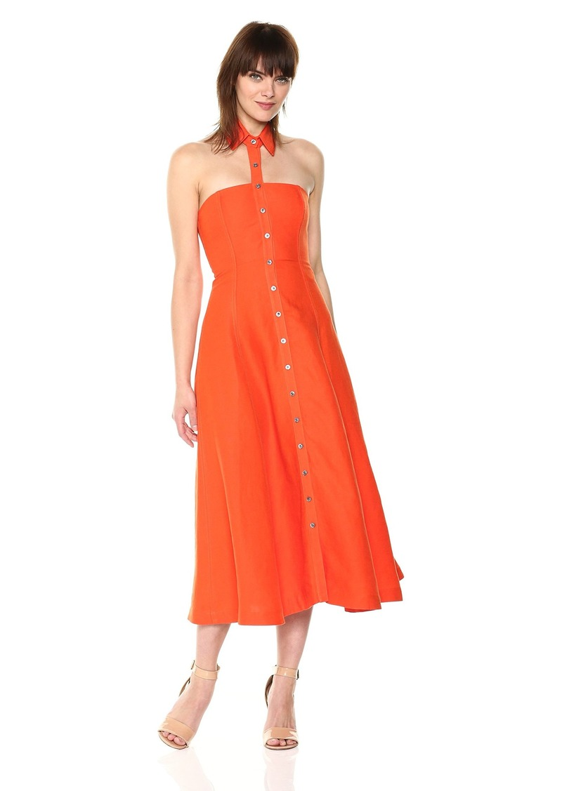 Mara Hoffman Women's Veronique Button Up Floating Collar Midi Dress