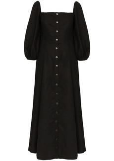 Mara Hoffman Marlow Box Neck Linen Maxi Dress