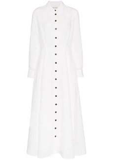 Mara Hoffman Michelle Collared Linen Maxi Dress
