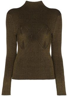 Mara Hoffman mida rib knit turtleneck top