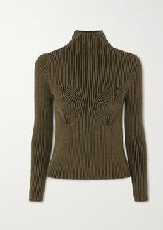 Mara Hoffman Net Sustain Mida Ribbed Stretch-modal Turtleneck Sweater