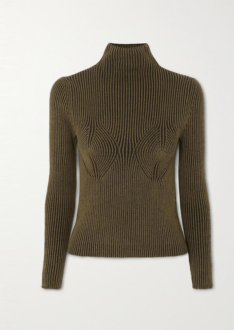 Mara Hoffman Mida Ribbed Stretch-modal Turtleneck Sweater