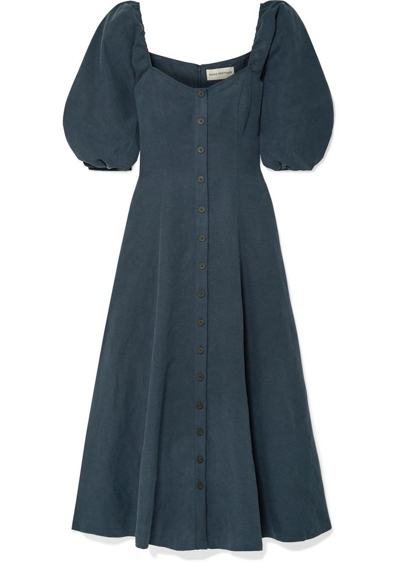 Mara Hoffman Net Sustain Mika Tencel And Linen-blend Maxi Dress