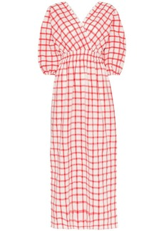 Mara Hoffman nami checked-cotton maxi dress
