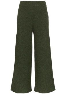 Mara Hoffman Nellie knitted wide leg alpaca trousers