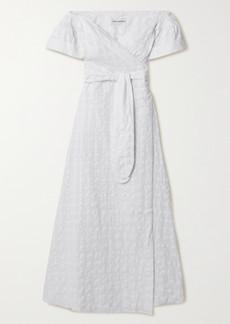 Mara Hoffman Net Sustain Adelina Organic Cotton-jacquard Wrap Maxi Dress