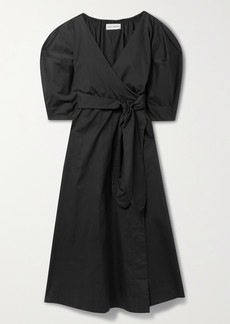 Mara Hoffman Net Sustain Agnella Organic Cotton Wrap Midi Dress