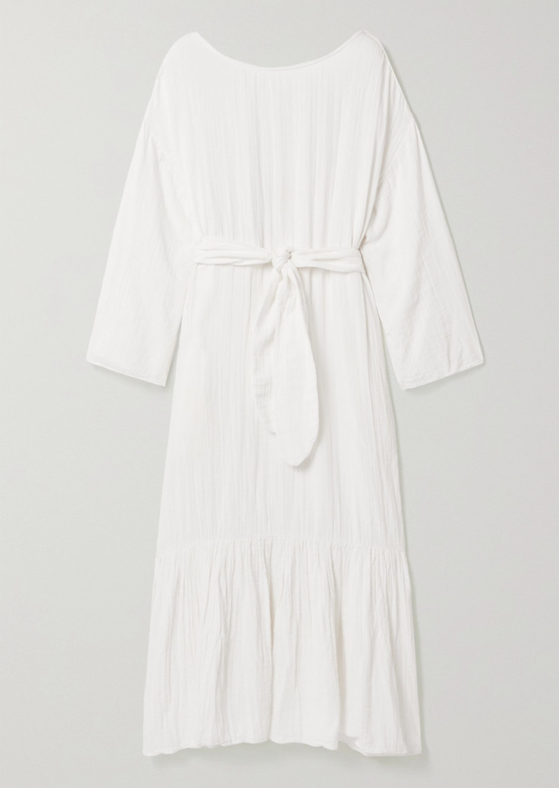 Mara Hoffman Net Sustain Augusta Crinkled Organic Cotton-gauze Maxi Dress