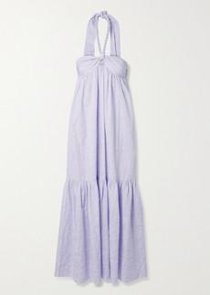 Mara Hoffman Net Sustain Basilia Organic Cotton-blend Jacquard Halterneck Maxi Dress