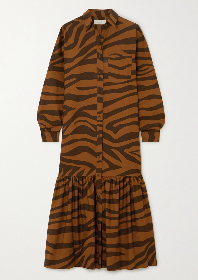 Mara Hoffman Net Sustain Freda Tiger-print Organic Cotton Maxi Dress