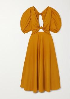 Mara Hoffman Net Sustain Leila Knotted Organic Cotton-poplin Maxi Dress