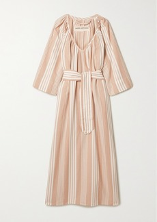 Mara Hoffman Net Sustain Luz Striped Tencel Lyocell And Organic Cotton-blend Midi Dress