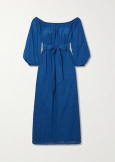 Mara Hoffman Net Sustain Malika Off-the-shoulder Fil Coupé Organic Cotton Maxi Dress