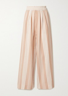 Mara Hoffman Net Sustain Paloma Striped Tencel Lyocell And Organic Cotton-blend Wide-leg Pants