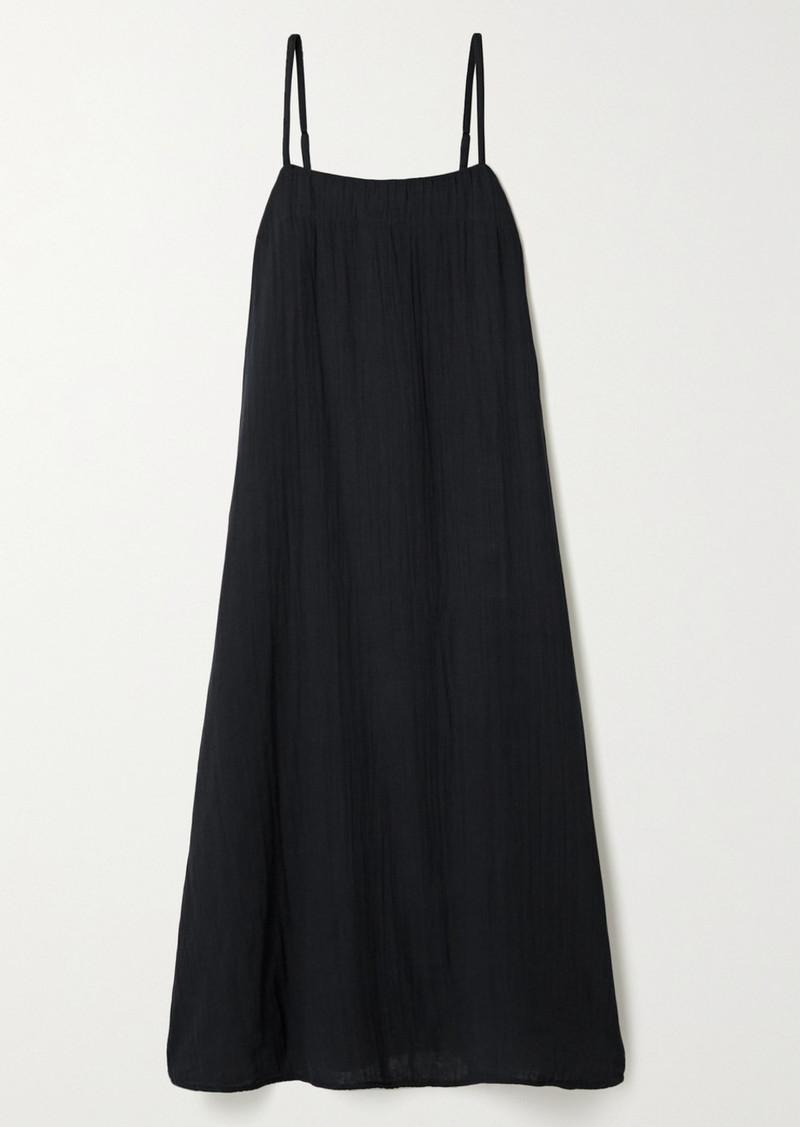 Mara Hoffman Net Sustain Philomena Crinkled Organic Cotton-gauze Midi Dress