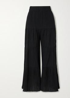 Mara Hoffman Net Sustain Shelesea Crinkled Organic Cotton-gauze Wide-leg Pants