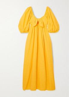 Mara Hoffman Net Sustain Violet Organic Cotton And Organic Linen-blend Maxi Dress