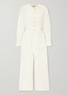 Mara Hoffman Net Sustain X Lg Electronics Mandra Belted Crinkled Organic Cotton Jumpsuit