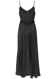 Mara Hoffman Nina woven-belt satin maxi dress