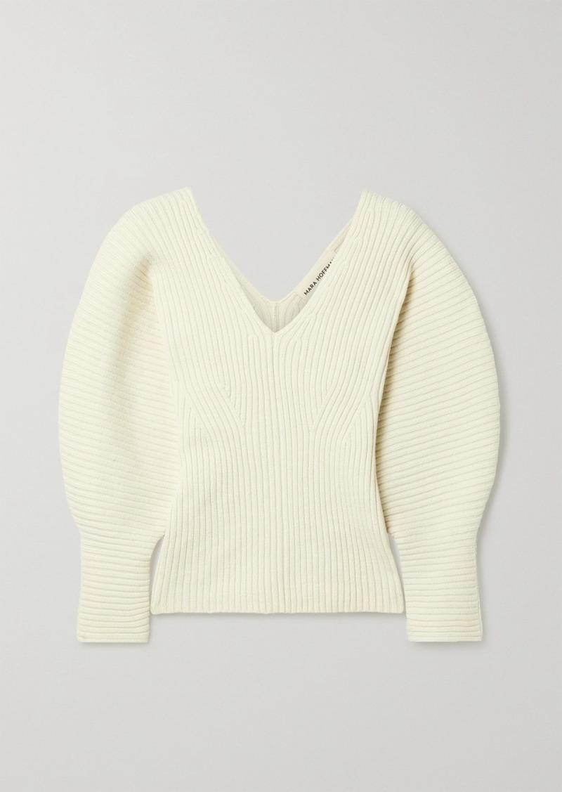 Mara Hoffman Olla Ribbed Organic Cotton-blend Sweater