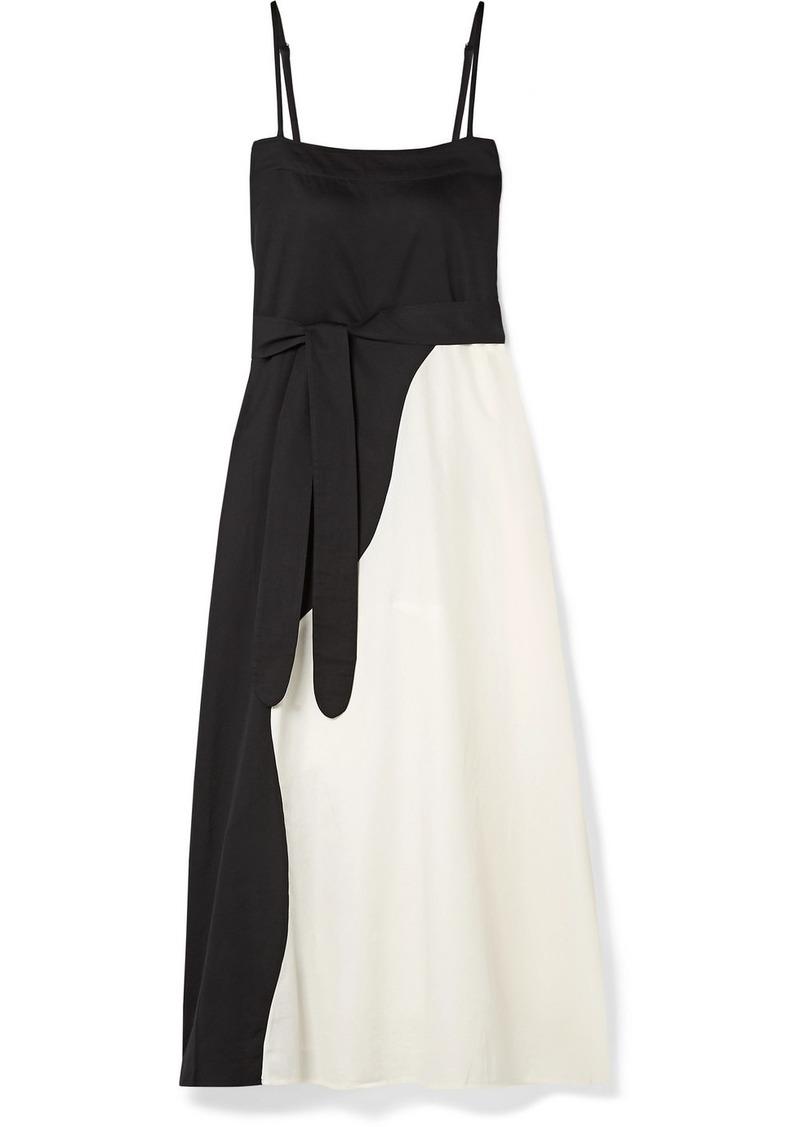 Mara Hoffman Net Sustain Philomena Two-tone Organic Cotton-voile Maxi Dress