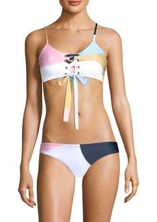 Scarlett Lace-Up Bikini Top