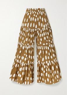 Mara Hoffman Shelesea Fil Coupé Organic Cotton And Linen-blend Wide-leg Pants