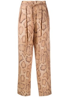 Mara Hoffman snake-skin print trousers