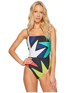 Mara Hoffman Superstar High Leg Tank One-Piece