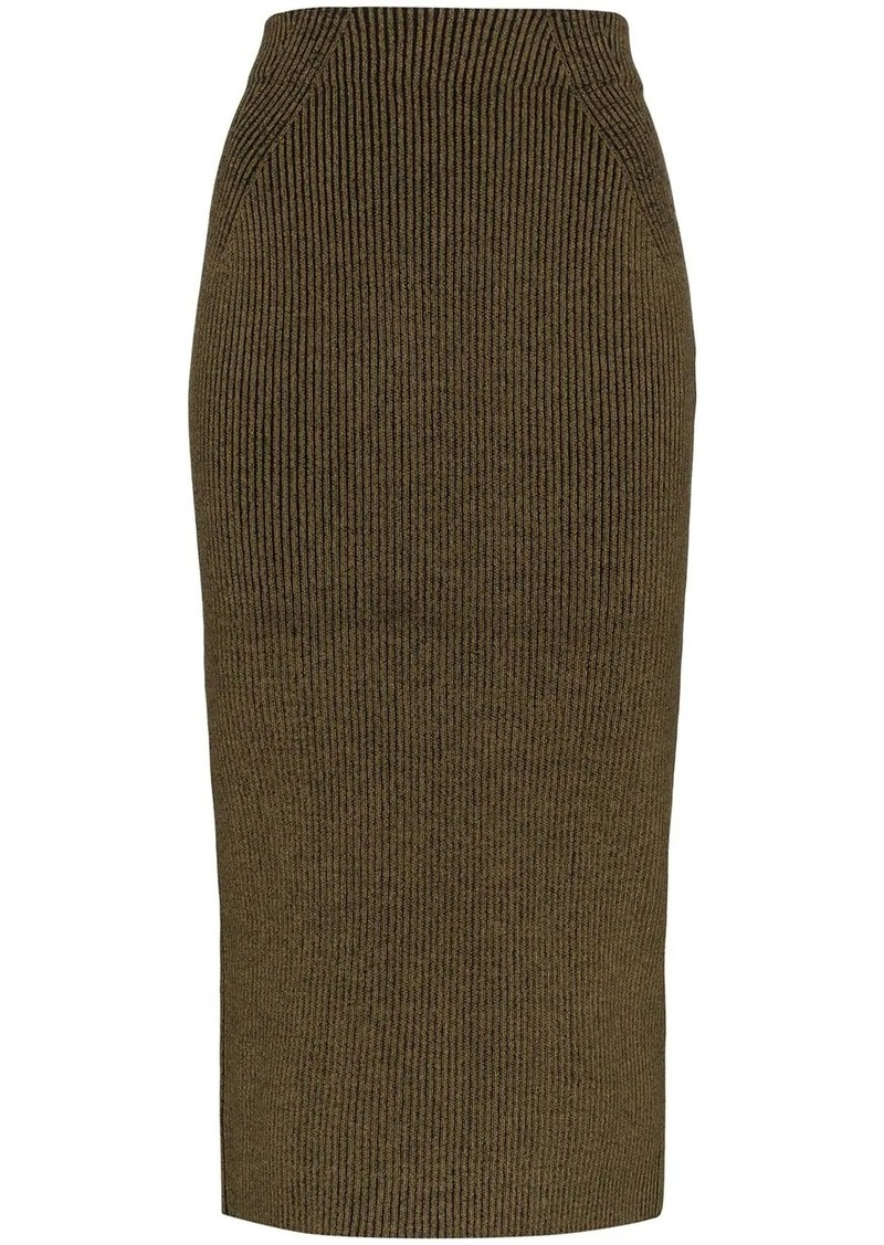 Susan rib knit midi skirt