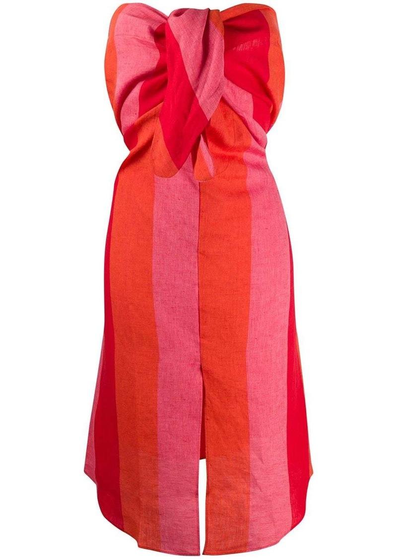 Mara Hoffman tie knot striped beach dress