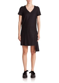 Marc by Marc Jacobs Asymmetrical Stretch-Wool Shift Dress