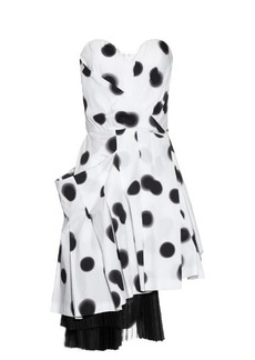 Marc By Marc Jacobs Blurred-dots print strapless dress