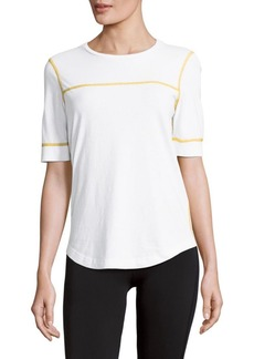 Marc by Marc Jacobs Flatlock Trimmed Cotton Tee