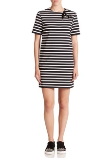 Marc by Marc Jacobs Jacquelyn Striped Lace-Up Dress