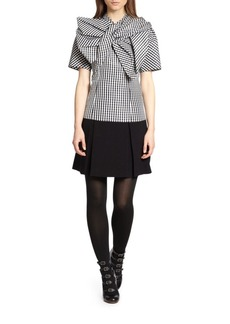 Marc by Marc Jacobs Kick-Pleated Crepe Skirt