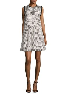Marc by Marc Jacobs Printed A-Line Pleated Dress