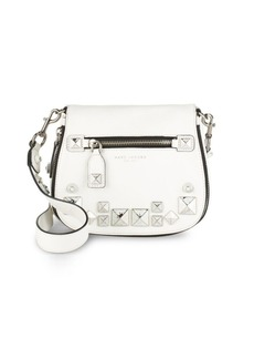 Marc by Marc Jacobs Recruit Small Chipped Studs Leather Saddle Crossbody Bag