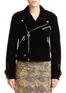Marc by Marc Jacobs Semona Velvet Biker Jacket