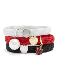 MARC BY MARC JACOBS Set of 3 Charm Ponytail Holders
