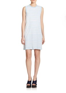 Marc by Marc Jacobs Striped Cotton Shift Dress
