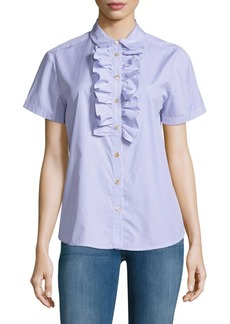 Marc by Marc Jacobs Striped Ruffle-Front Shirt
