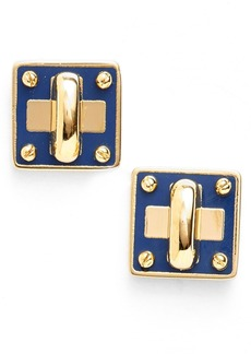 MARC BY MARC JACOBS 'Turnlock' Enamel Stud Earrings