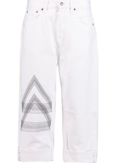 Marc By Marc Jacobs Woman Big Jean High-rise Embroidered Straight-leg Jeans White