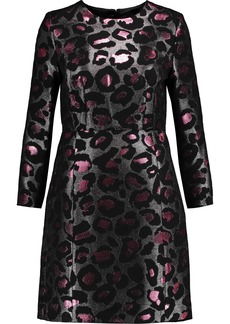 Marc By Marc Jacobs Woman Metallic Leopard-jacquard Mini Dress Fuchsia