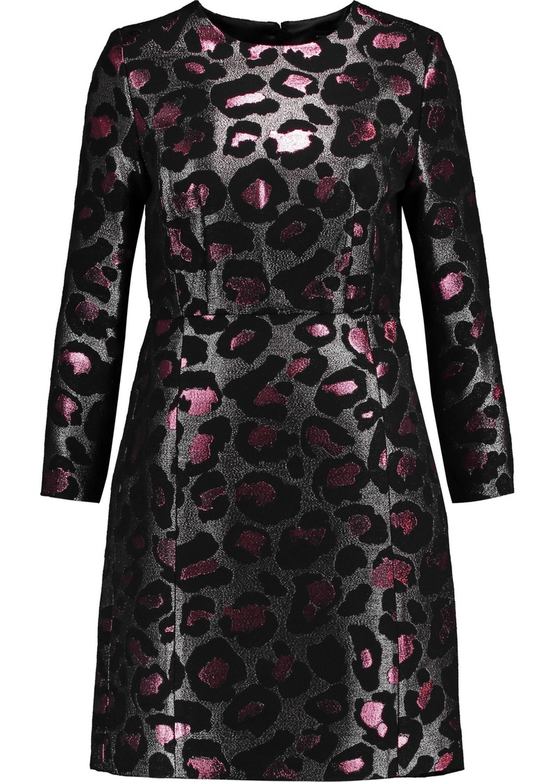 Marc By Marc Jacobs Woman Metallic Leopard-jacquard Mini Dress Fuchsia