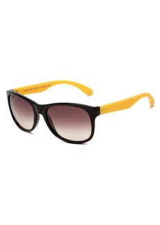 Marc by Marc Jacobs Women's MMJ 246/S Rectangular Sunglasses lack Yellow Frame/Grey Gradient Len one size