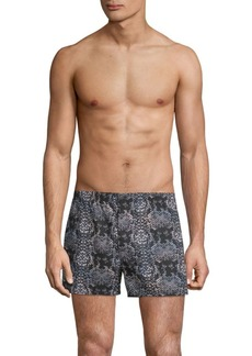 Marc by Marc Jacobs Rex Snakeskin-Print Cotton Boxer Shorts