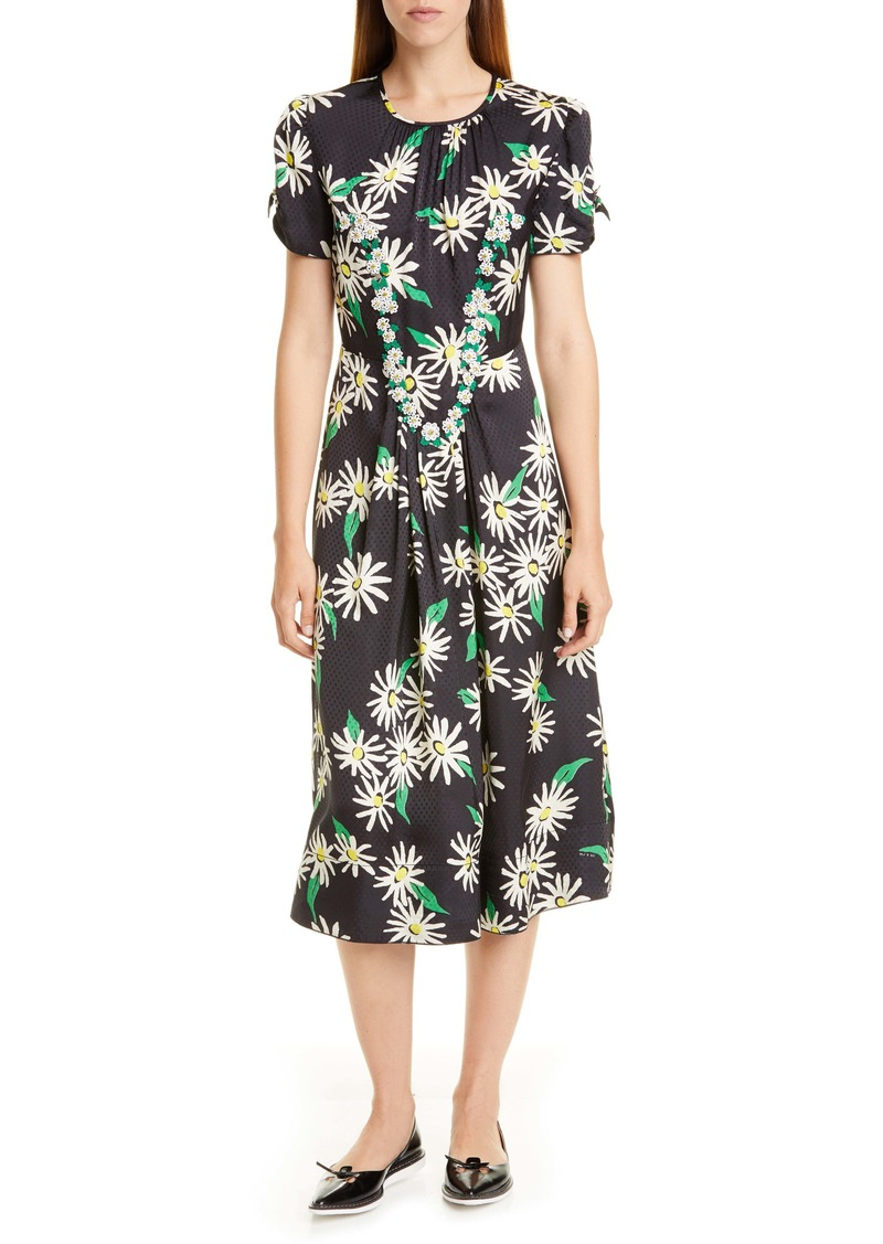 THE MARC JACOBS Sofia Loves the 40s Floral & Dot Jacquard Midi Dress