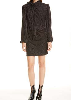 Marc by Marc Jacobs THE MARC JACOBS The Disco Metallic Stripe Long Sleeve Minidress